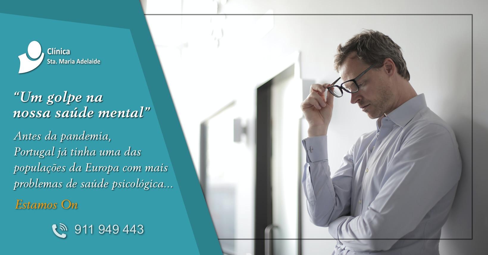 Depressão, Ansiedade, confinamento, Pandemia em Portugal