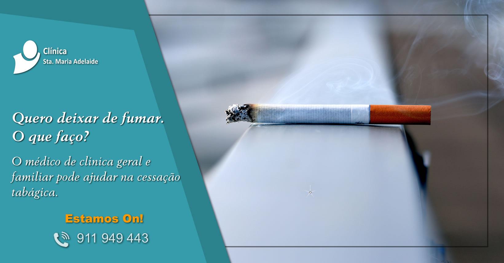 Quero deixar de fumar. Tabagismo
